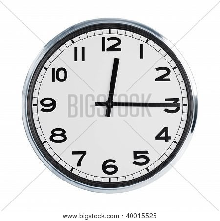 Wall Clock On A White Background