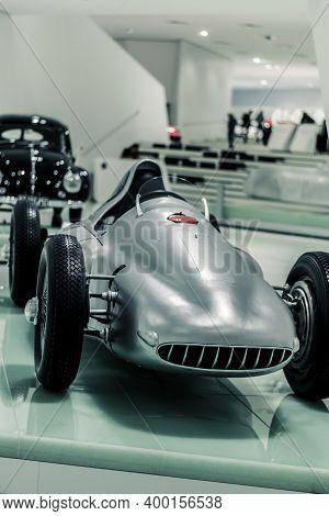 Stuttgart, Germany 6 March 2020:  Porsche Type 360 (1948)  Cisitalia At Porsche Museum. Rare-engined