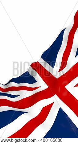 Waving Flag Of The Great Britain. British Flag. United Kingdom Of Great Britain And Northern Ireland