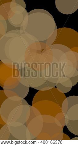 Multicolored Translucent Circles On A Dark Background. 3d Illustration