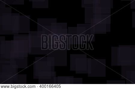 Black Abstract Background. Backdrop With Grey Squares. 3d Illustration