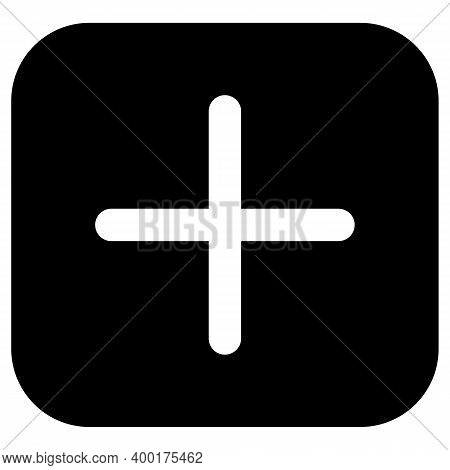 Plus Icon Isolated On White Background From User Interface Collection. Plus Icon Trendy And Modern P