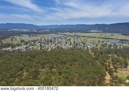 Aerial Photograph Of The Township Of Millfield In The Hunter Region In New South Wales In Australia