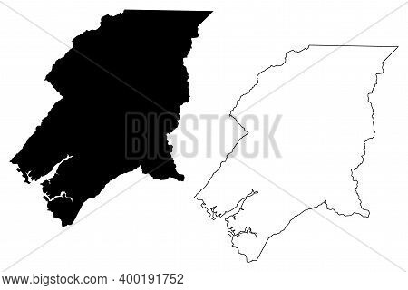Johnson County, State Of Tennessee (u.s. County, United States Of America, Usa, U.s., Us) Map Vector