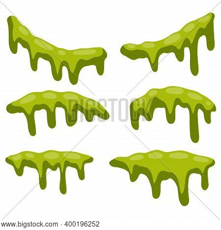 Green Slime. Halloween Decoration Element. Disgusting And Foul Object.