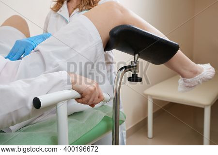 Patient With A Gynecologist During The Consultation In The Gynecological Office