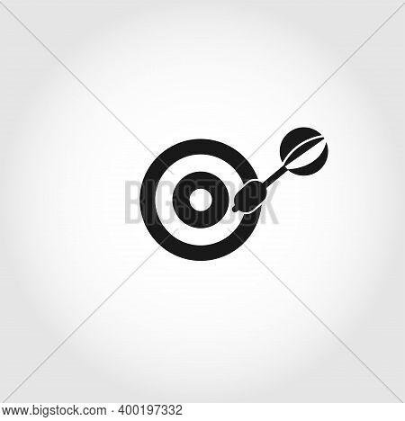 Dart Icon. Dart Board Icon. Archery Board Icon. Target Isolated Vector Icon. Business Design Element