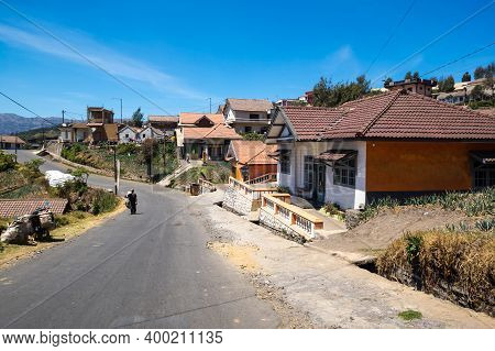 Java, Indonesia - 12 September 2018: Street Of Cemoro Lawang, A Very Small Hamlet North-east Of Moun