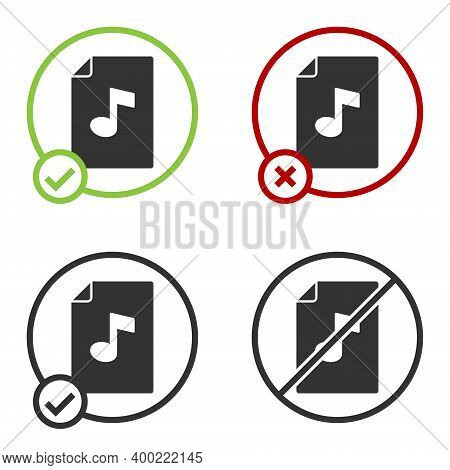 Black Music Book With Note Icon Isolated On White Background. Music Sheet With Note Stave. Notebook