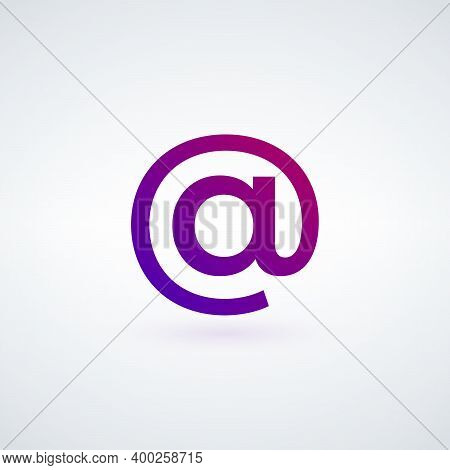 Email Symbol, Commercial At Symbol. Stock Vector Illustration Isolated On White Background.