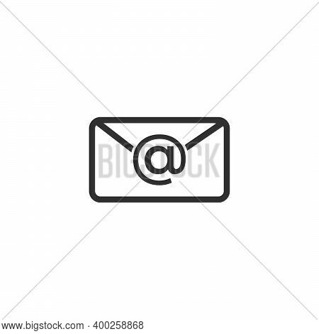 Notification Mail Icon. Mail Icon Vector Isolated On White Background. Trendy Mail Icon In Flat Styl
