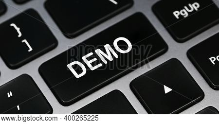 Demo Word On A Keyboard. Programming And It Concept.agile Concept