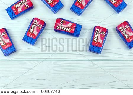Halls Watermelon Taste. Halls Is The Brand Of A Popular Mentholated Cough Drop. Halls Brand Are Owne