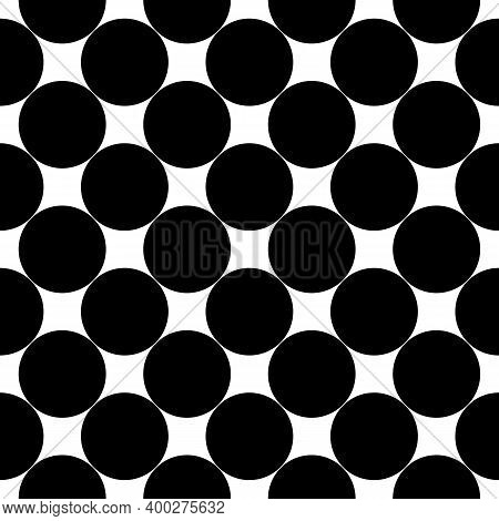 Seamless Pattern. Big Dots Wallpaper. Circles Ornament. Polka Dot Motif. Circular Figures Backdrop.