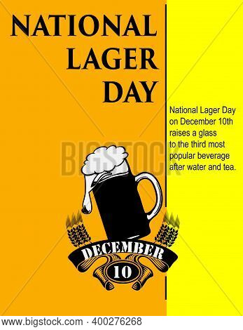 Information Poster For The Event In December - Lager Beer Day