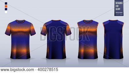 T-shirt Mockup, Sport Shirt Template Design For Soccer Jersey, Football Kit. Tank Top For Basketball