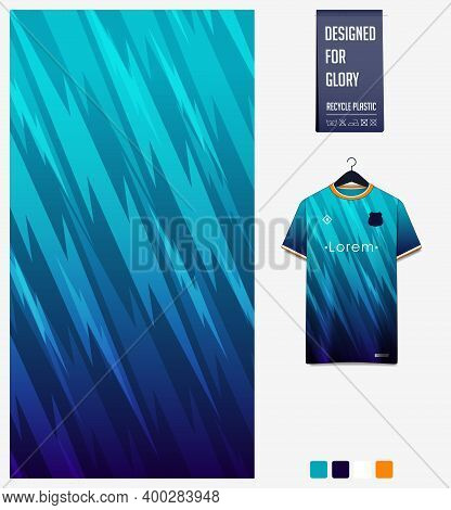 Thunder Pattern On Blue Gradient Background For Soccer Jersey, Football Kit, Bicycle, Racing, E-spor