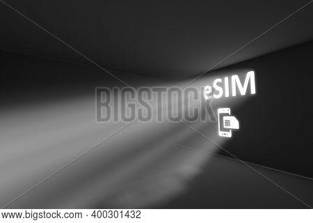 Esim Rays Volume Light Concept 3d Illustration