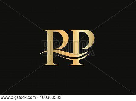 Initial Monogram Letter Pp Logo Design Vector. Pp Letter Logo Design With Modern Trendy