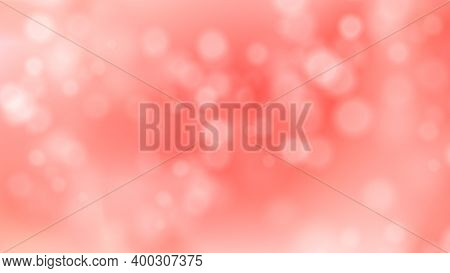 Abstract Pink Blurred Background With Bokeh. Vector Illustration For Valentines Day, Wedding, Birthd