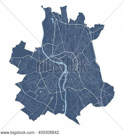 Toulouse Map. Detailed Vector Map Of Toulouse City Administrative Area. Cityscape Poster Metropolita