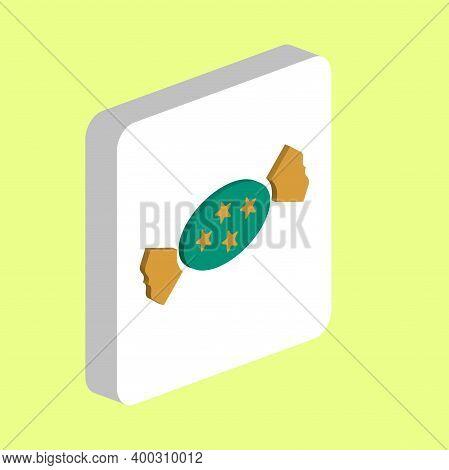 Bonbon Simple Vector Icon. Illustration Symbol Design Template For Web Mobile Ui Element. Perfect Co