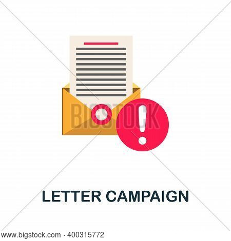 Letter Campaign Flat Icon. Color Simple Element From Activism Collection. Creative Letter Campaign I