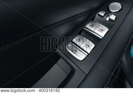 Window Lifter Button In A Luxury Car