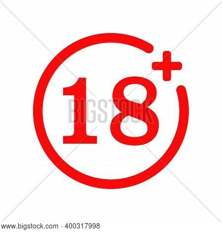 Signs Of Adult Age Restriction Only Logo Icon Vector Graphic Concept Design