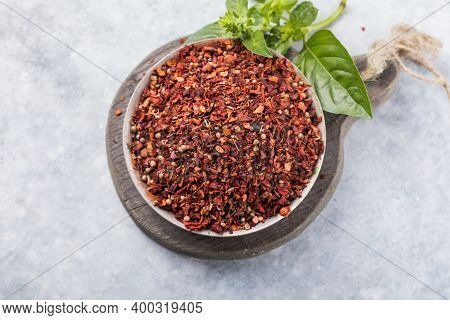 Heaps Of Various Ground Spices On Wooden Background.heaps Of Various Ground Spices On Wooden Backgro