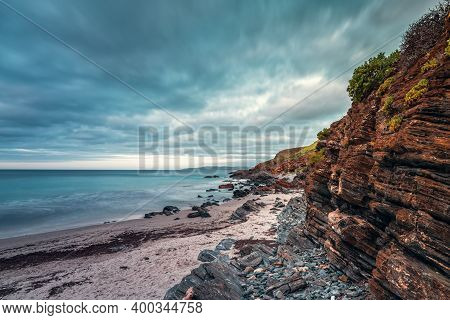 Second Valley Beach With Rugged Coastline At Dusk In South Australia