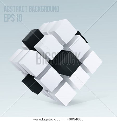 3D cube abstract background
