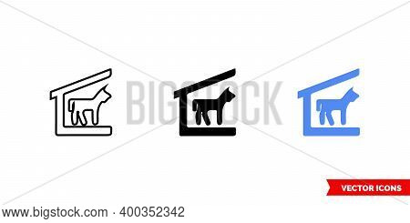 Map Symbol Stable Icon Of 3 Types Color, Black And White, Outline. Isolated Vector Sign Symbol.