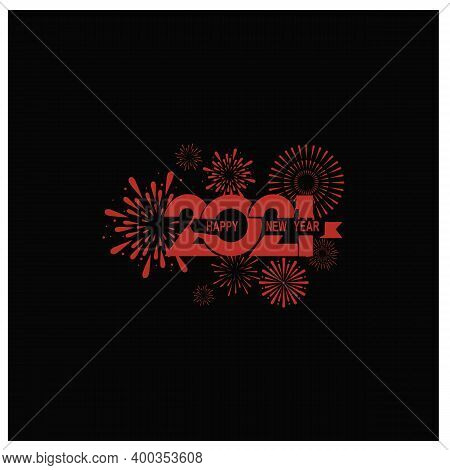 New Year 2021. Happy New Year 2021 Vector. Number 2021 In A Circle Shape. 2021 Text. Number 2021 Wit