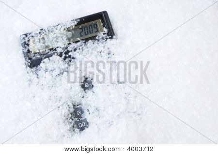 Christmas Date On Calculator Under Snow