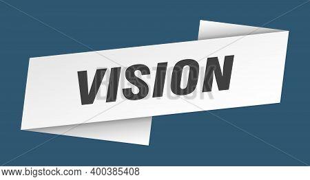 Vision Banner Template. Vision Ribbon Label Sign