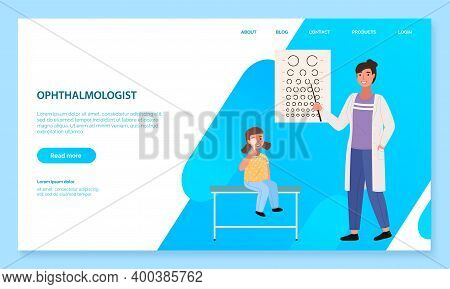 App To Communicate With Healthcare Professionals. Website For Consultation With An Ophthalmologist.