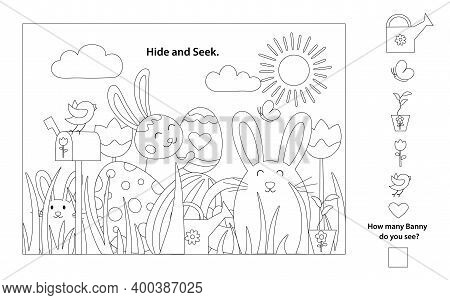 Easter Outline Black And White Vector Coloring Pages Printable And Worksheet. Easter Activities For