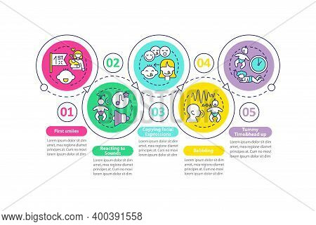 Developmental Milestones Vector Infographic Template. Childcare Presentation Design Elements. Data V