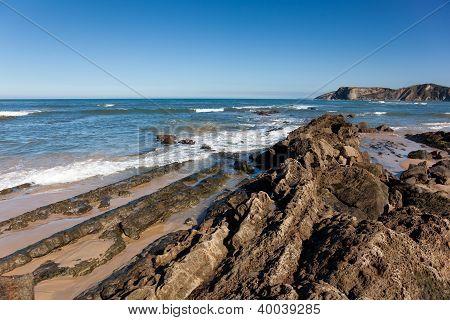 Beach Of Comillas, Cantabria, Spain