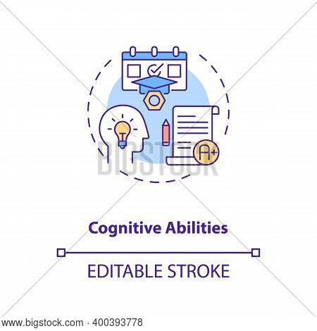 Cognitive Abilities Concept Icon. Human Factor In Ergonomics Idea Thin Line Illustration. Mental Eff