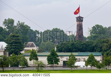 The Flag Tower Of Hanoi Is A Tower In Hanoi, Vietnam, Which Is One Of The Symbols Of The City And On