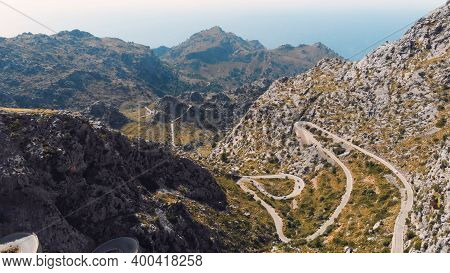 The Road The Knotted Tie - Nudo De Corbata In The Serra De Tramuntana Mountain, Mallorca, Balearic I