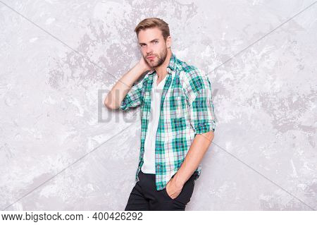 Feeling Comfortable. Fashion Store. Menswear And Fashionable Clothing. Masculinity Concept. Man Hand