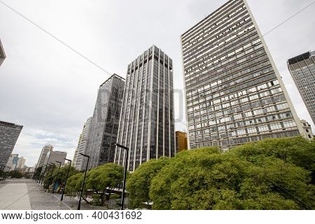 Anhangabau Valley, Sao Paulo Brazil