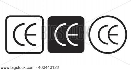European Conformity Certification Mark. Ce Symbol Isolated On White Background. Ce Mark. Stock Image