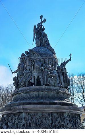 Russia, Veliky Novgorod 01,04,2012  Monument