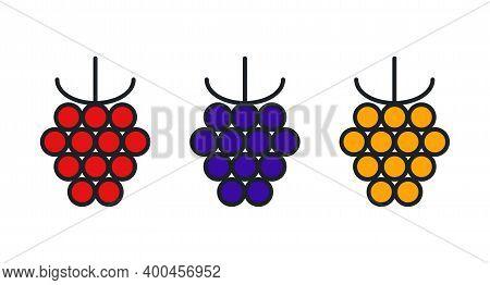 Raspberry, Blackberry, Cloudberry Icon. Linear Color Icon, Contour, Shape, Outline. Thin Line. Moder