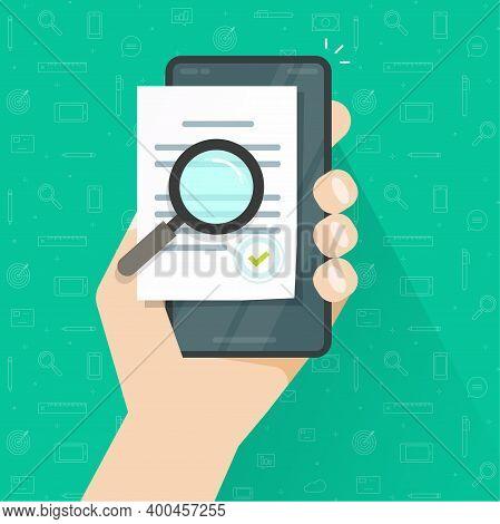 Mobile Online Compliance Digital Document Inspection Or Assessment Evaluation On Smartphone Phone Ve