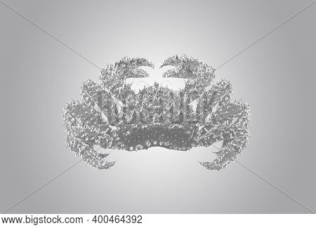 Abstract, Transparent Sea Crab On An Isolated Background.
